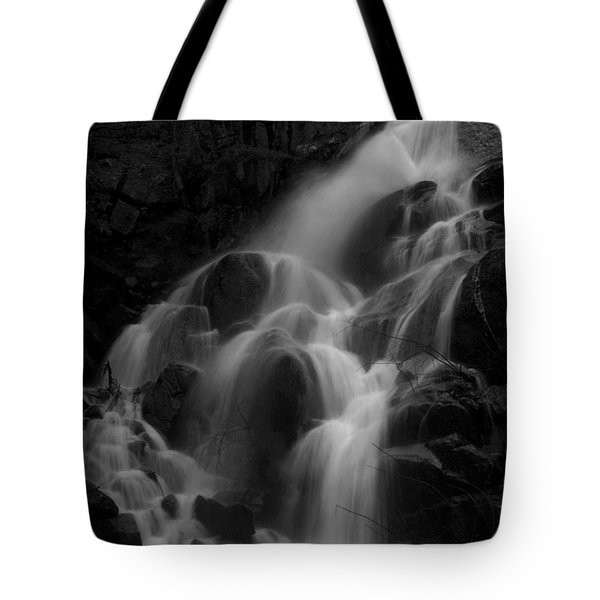 Waterfall In Black And White Tote Bag by Bill Gallagher