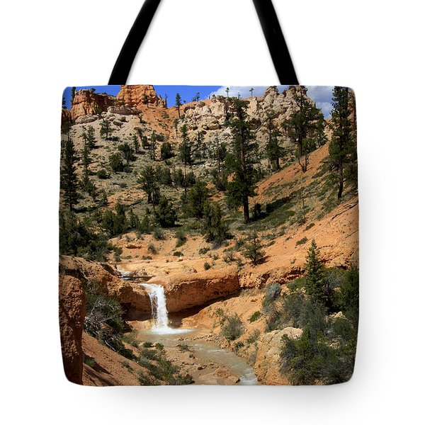 Waterfall In Bryce Canyon Tote Bag