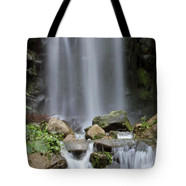 Tote Bag featuring the photograph Waterfall In Singapore by Shoal Hollingsworth