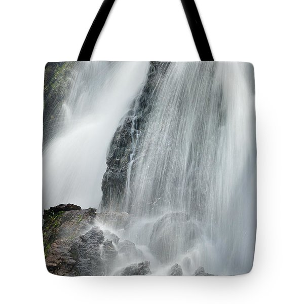 Waterfall In Spring Tote Bag by Guido Montanes Castillo