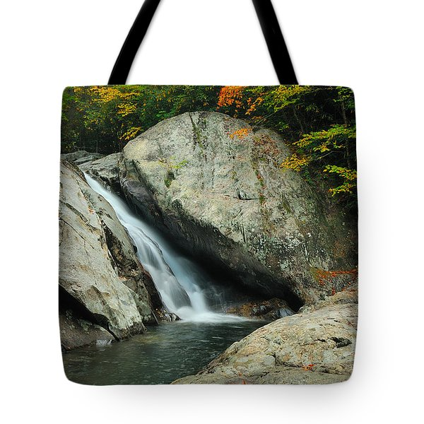 Waterfall In West Fork Of Pigeon River Tote Bag