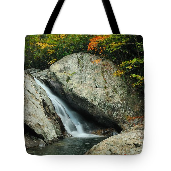 Waterfall In West Fork Of Pigeon River Tote Bag by Photography  By Sai