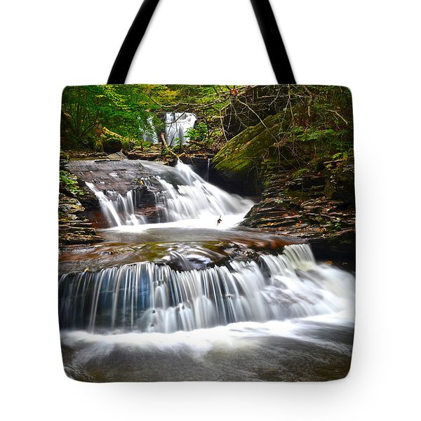 Waterfall Oasis Tote Bag by Frozen in Time Fine Art Photography