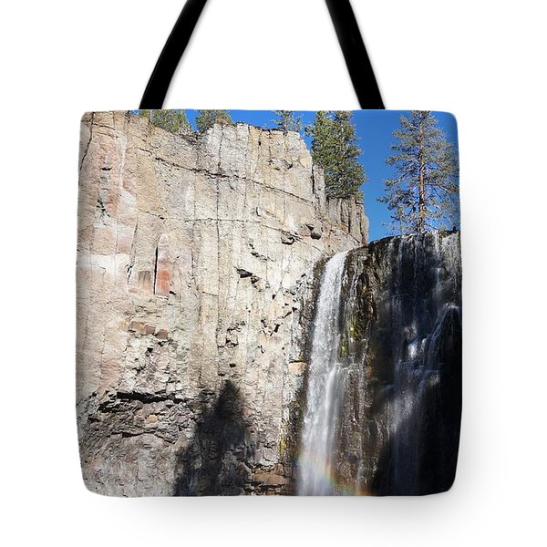 Waterfall Rainbow Tote Bag by Julia Ivanovna Willhite