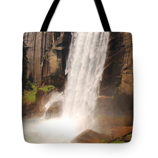Tote Bag featuring the photograph Waterfall Rainbow by Mary Carol Story