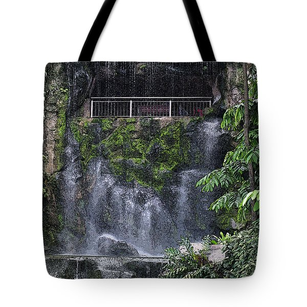 Tote Bag featuring the painting Waterfall by Sergey Lukashin