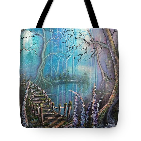 Waterfall Valley Tote Bag