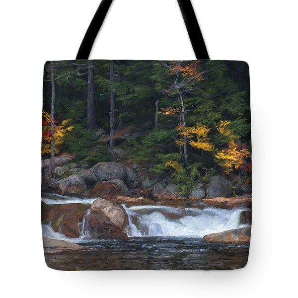 Waterfall - White Mountains - New Hampshire Tote Bag