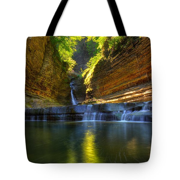 Waterfalls At Watkins Glen State Park Tote Bag