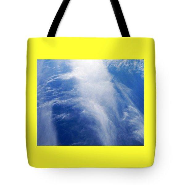 Waterfalls In The Sky Tote Bag by Belinda Lee