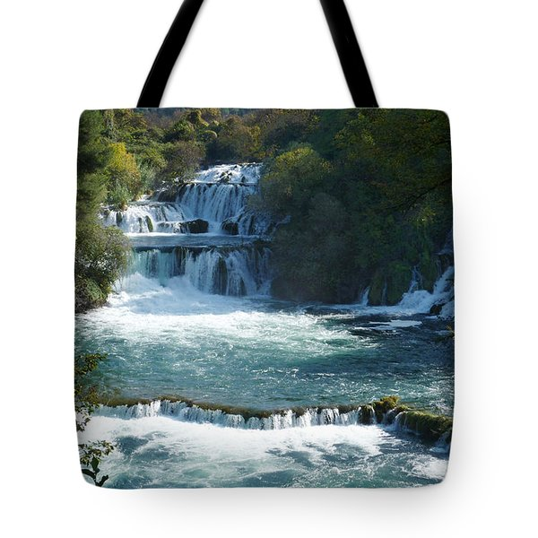 Waterfalls - Krka National Park - Croatia Tote Bag
