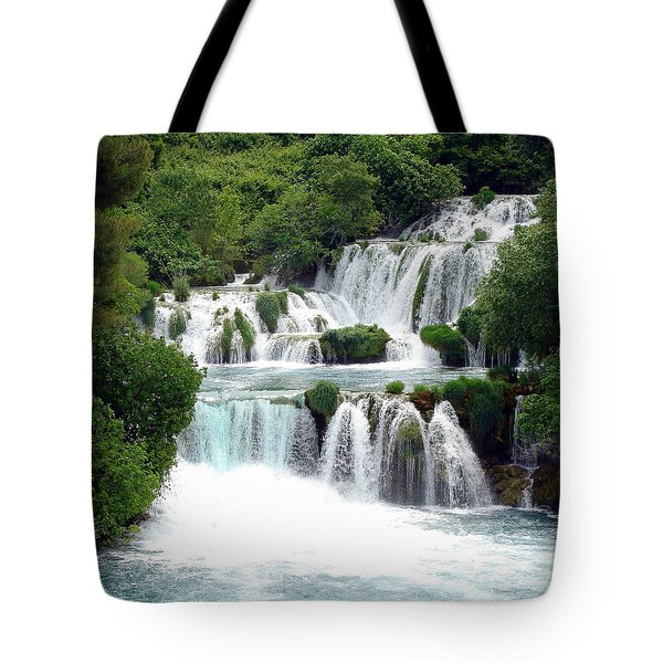 Waterfalls Of Plitvice Tote Bag
