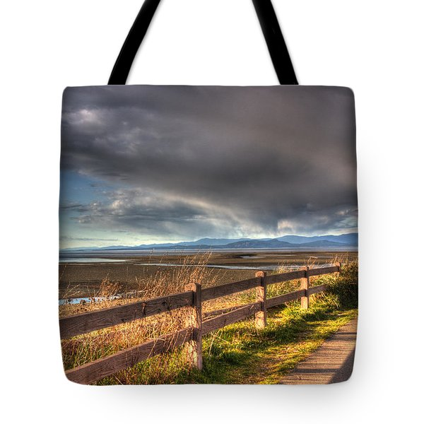 Waterfront Walkway Tote Bag by Randy Hall