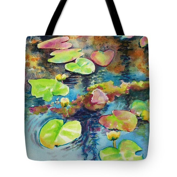 Waterlilies In Shadow Tote Bag