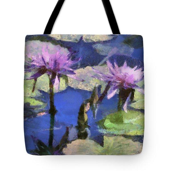 Waterlilies Tote Bag by Teresa Zieba