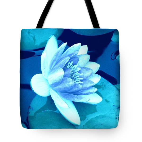 Waterlily Blue 3 Tote Bag by Margaret Newcomb