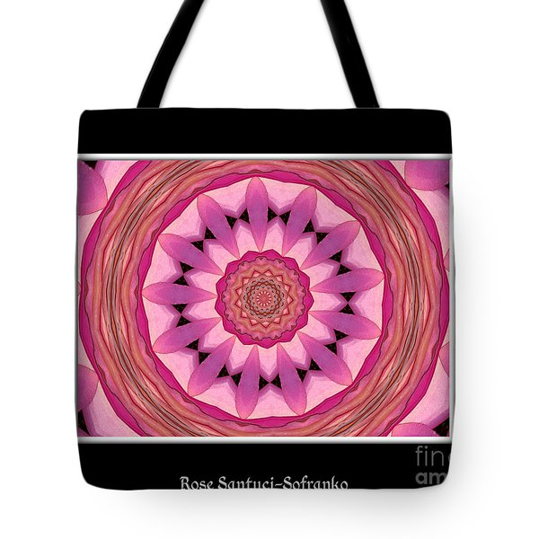 Tote Bag featuring the photograph Waterlily Flower Kaleidoscope 3 by Rose Santuci-Sofranko