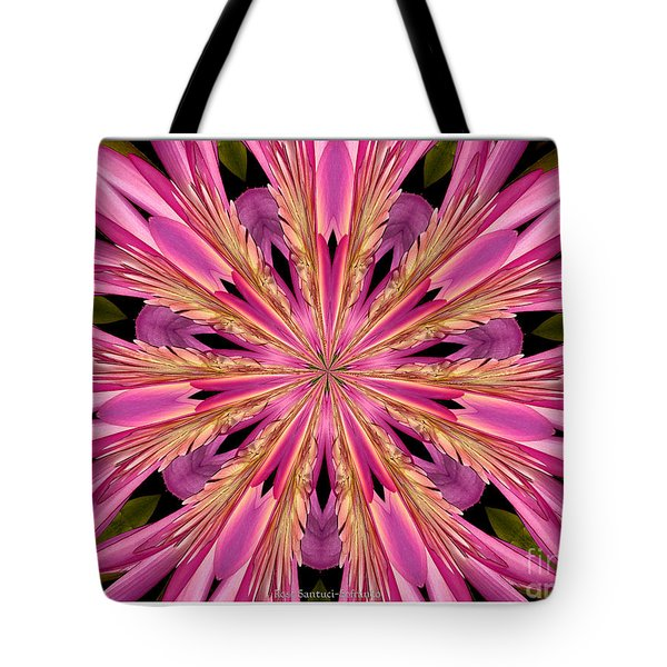 Tote Bag featuring the photograph Waterlily Flower Kaleidoscope 4 by Rose Santuci-Sofranko