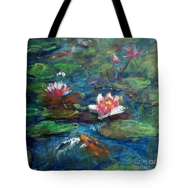 Waterlily In Water Tote Bag