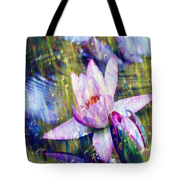 Purple Waterlily Paradise Tote Bag