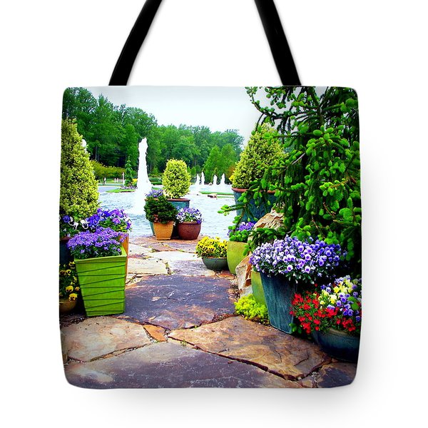Waterway Path Tote Bag