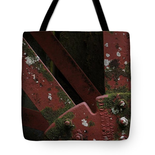 Waterwheel Up Close Tote Bag by Daniel Reed