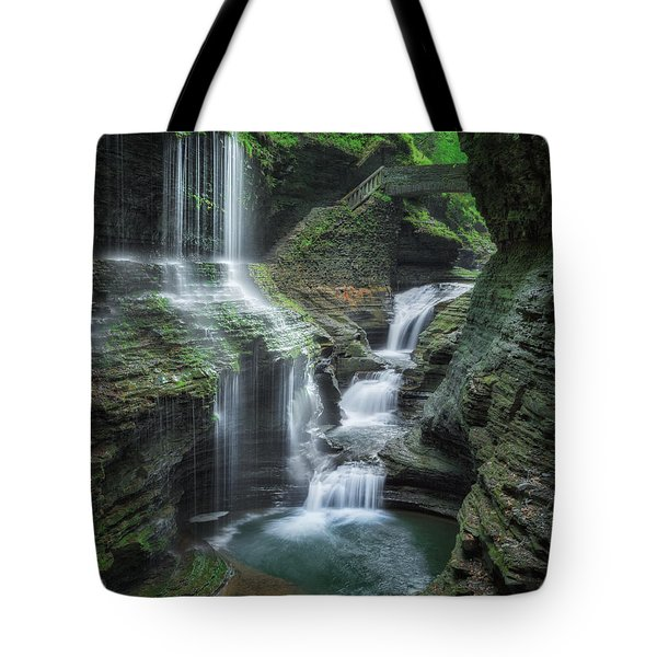 Watkins Glen Tote Bag by Bill Wakeley