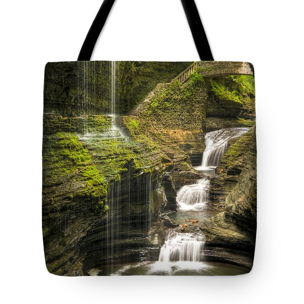 Watkins Glen Rainbow Falls Tote Bag