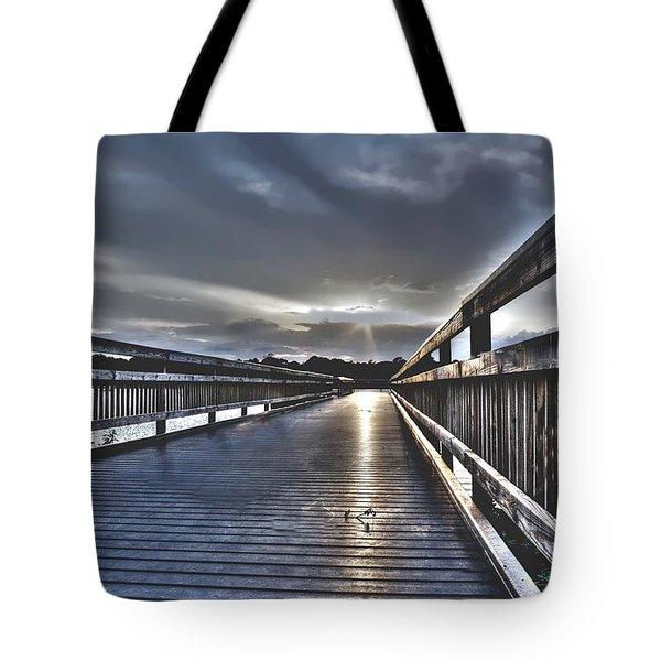Watson Bayou Pier Hdr Tote Bag