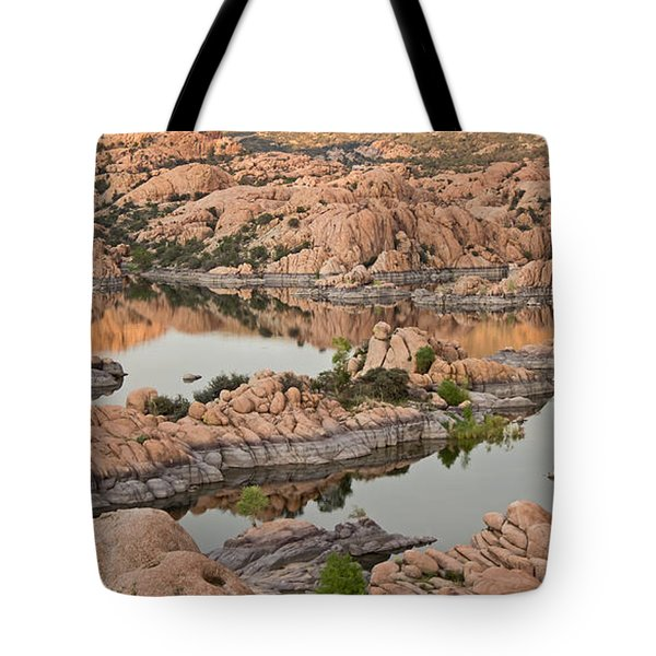 Watson Lake Sunset Tote Bag