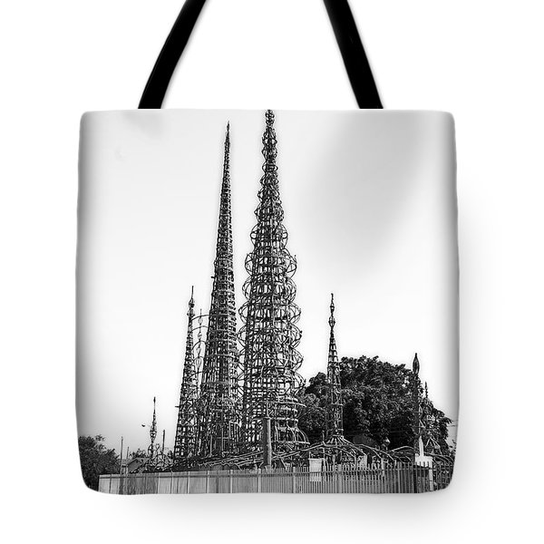 Tote Bag featuring the photograph Watts Towers by Viktor Savchenko