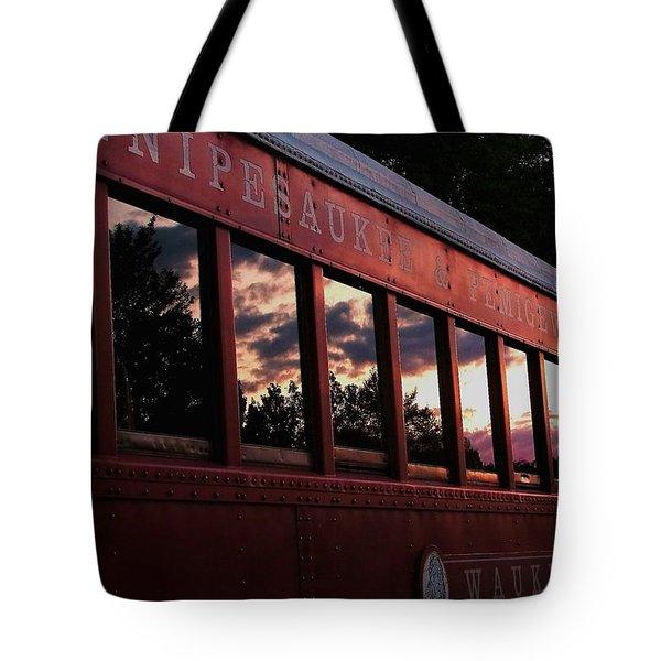 Waukewan Train Tote Bag