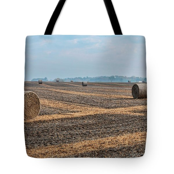 Tote Bag featuring the photograph Waupaca Straw Rolls by Trey Foerster