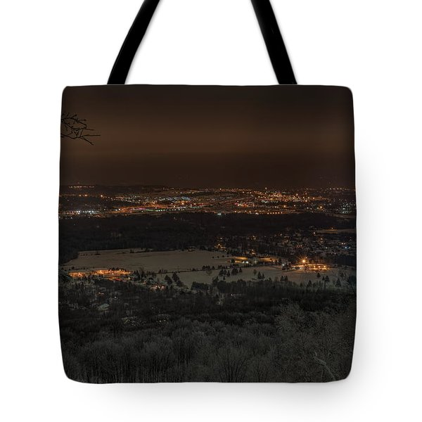 Tote Bag featuring the photograph Wausau From On High by Dale Kauzlaric