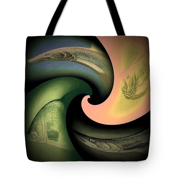 Wave 3 Tote Bag by Andrew Drozdowicz