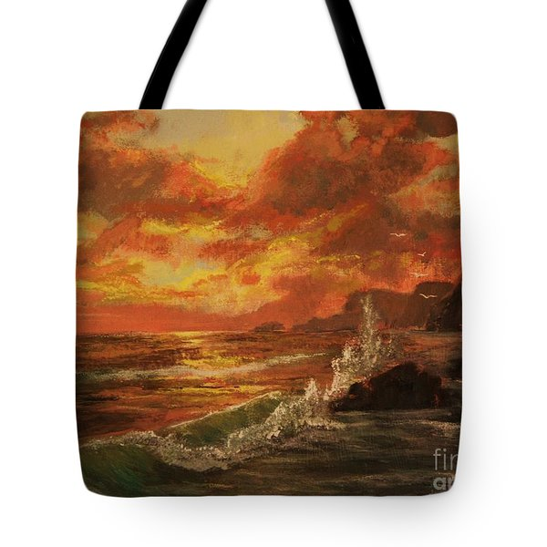 Wave Crash Tote Bag by Vanessa Palomino
