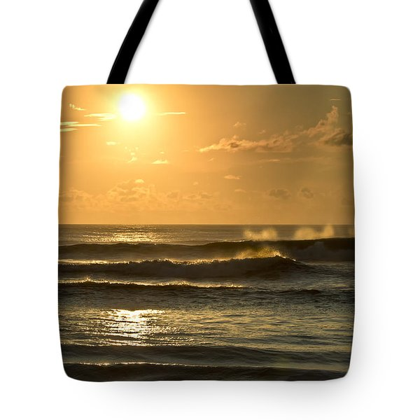 Waves Of Life Tote Bag by Skip Tribby