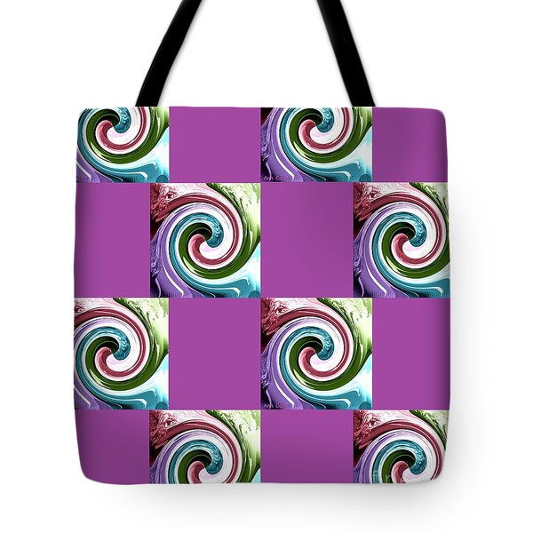 Tote Bag featuring the digital art Wave Of Purple 2 by Ann Calvo