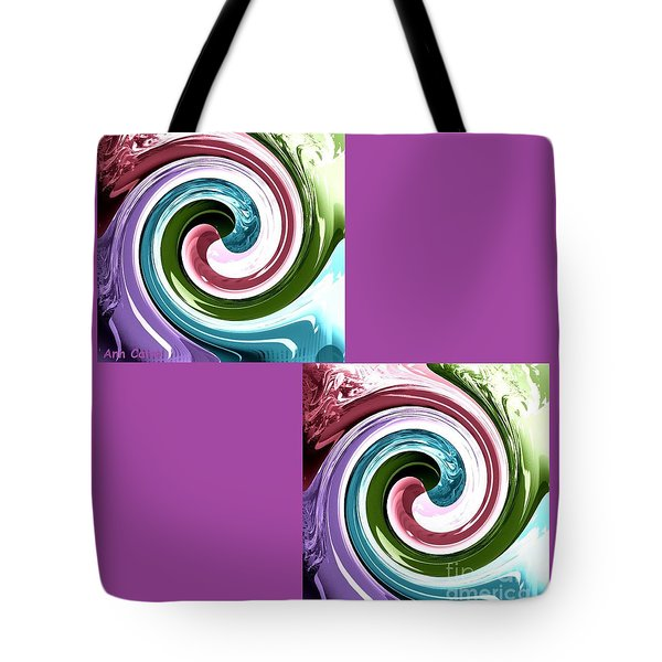 Wave Of Purple Tote Bag