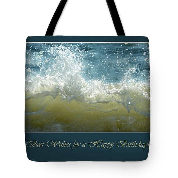 Tote Bag featuring the photograph Wave by Randi Grace Nilsberg