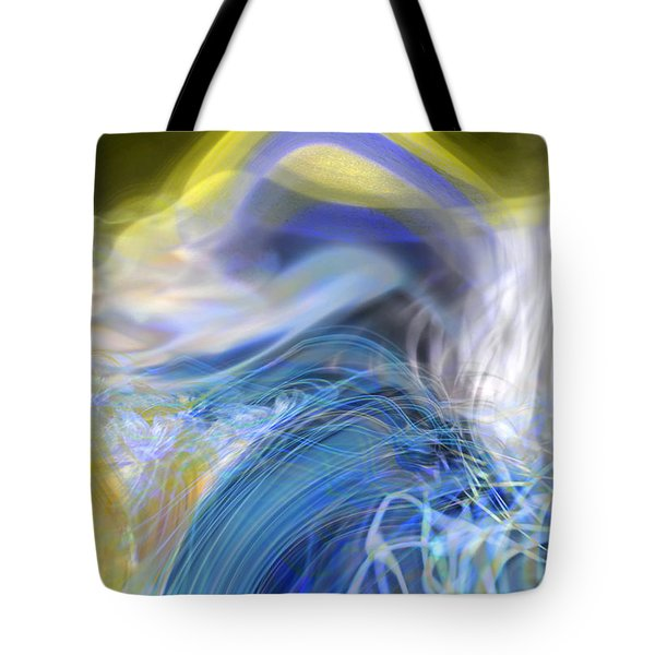 Tote Bag featuring the digital art Wave Theory by Richard Thomas