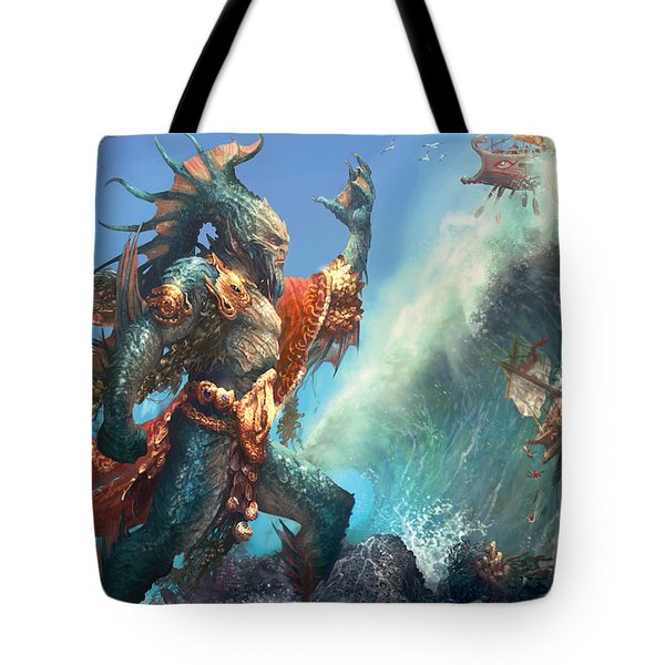 Wavecrash Triton Tote Bag