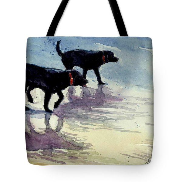 Waverunners Tote Bag by Molly Poole