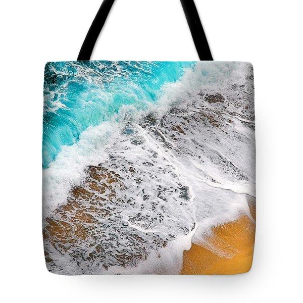 Waves Abstract Tote Bag by Silvia Ganora
