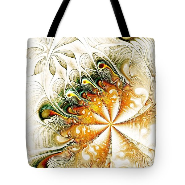 Waves And Pearls Tote Bag