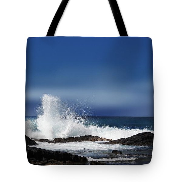 Tote Bag featuring the photograph Waves by Athala Carole Bruckner