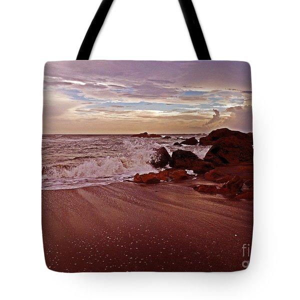 Waves Break Hands Shake Tote Bag