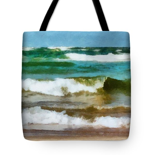 Waves Crash Tote Bag