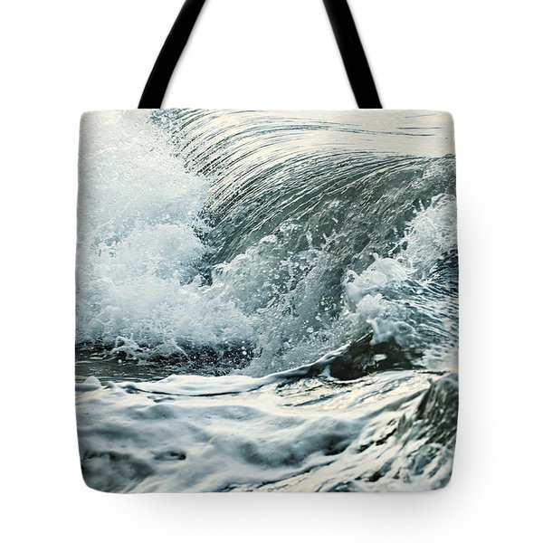 Waves In Stormy Ocean Tote Bag