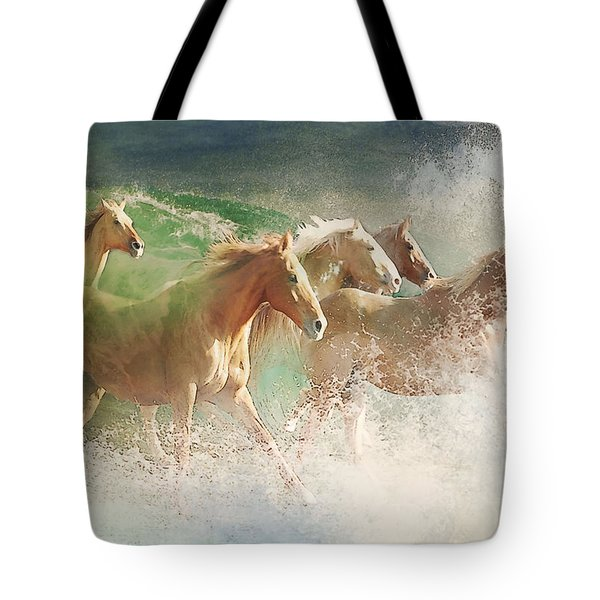 Waves Of God's Glory Tote Bag